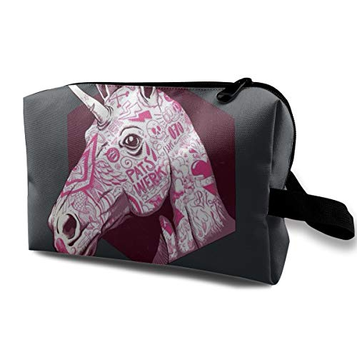 Animal Multi-functional Travel Cosmetic Bag Pink Unicorn -