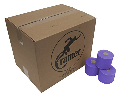 Cramer Tape Underwrap, Bulk Case of 48 Rolls of PreWrap for Athletic Taping, Hair Tie, Headband, Patellar Support, Pre-Wrap Athletic Tape Supplies, 2.75