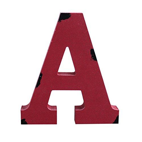 Oak-Pine 7' Wooden Letters Alphabet A-Z Vintage Handcraft Multi Color Wall Decor for Home, Nursery, Shop, Business Signs, Name,Festival Wedding Decoration A