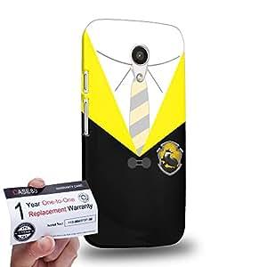 Case88 [Motorola Moto G (2nd Gen)] 3D impresa Carcasa/Funda dura para & Tarjeta de garantía - Art Hand Drawing Hufflepuff Robe