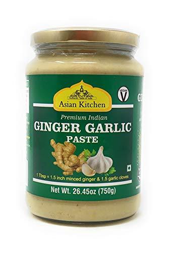 Asian Kitchen Ginger-Garlic Cooking Paste 26.5oz (750g) ~ Vegan | Glass Jar | Gluten Free | NON-GMO | No Colors | Indian Origin