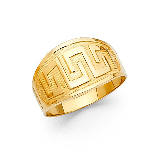 Paradise Jewelers 14K Solid Gold Fancy Design Ring, Size (Gold Fancy Design)