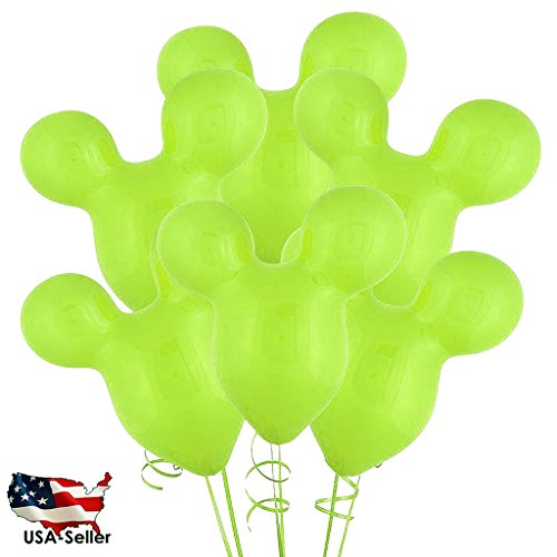 """30PCS LIHGT GREEN 15"""" Mickey Mouse Latex Balloons Wedding / Birthday Party Decoration USA SELLER(Jarty Party Brand)"""