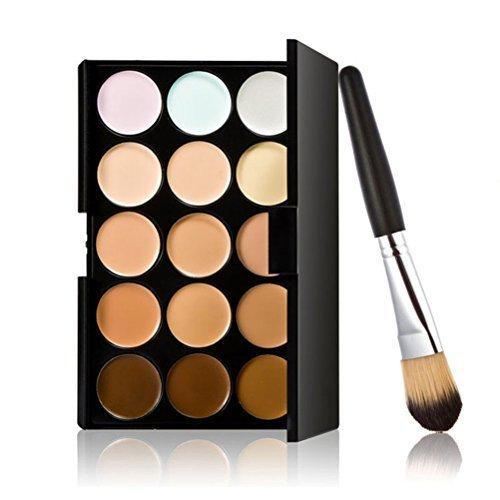 LEORX Face Contour Kit Highlighter Makeup Kit 15 Colour Cream Concealer Palette with Brush