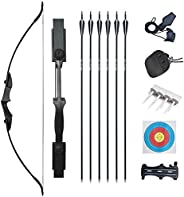 """Tongtu 53.5"""" Archery Recurve Bow Set Adult 30 40LBS Takedown Bow Hunting Long Bow Kit Right Left Hand for"""