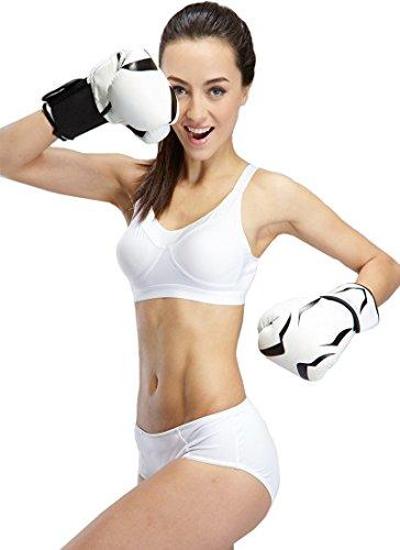 Yvette mujeres Sports Cintura Baja braga # 6046–Bikini Brief/Soporte/ordor-resist blanco