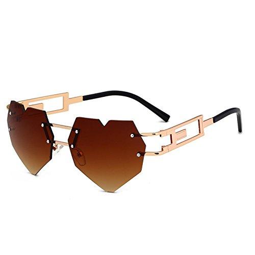 Einzigartige Retro Frauen Sonnenbrille C4 Forma Randlose KXLEB Liebe C3 Brille Ppggx
