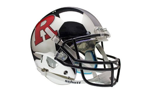 NCAA Rutgers Scarlet Knights Replica XP Helmet - Alternate 4 (Chrome Red/Grey) by Schutt