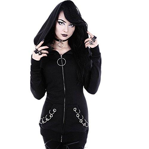 Women-Gothic-Punk-Ring-Front-Zip-up-Long-Sleeve-Hoodie-Sweatshirt-Jacket-Coat-4XL