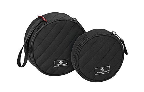 Quilted Luggage Set (Eagle Creek Pack-It Original Quilted Circlet(Xs) 2pc Set, Black)