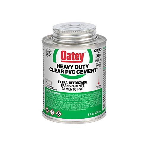 Oatey 30863 Heavy Duty Solvent Cement, 8 Oz, Can, Liquid, Clear
