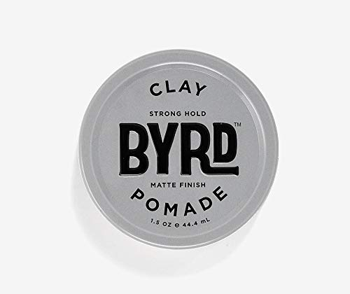BYRD Hair Clay Pomade Mens Strong Hold/Matte Finish, 1.5 OZ