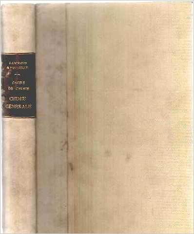 Livre gratuits en ligne Cours de chime tome 1: chimie generale et metalloides epub pdf