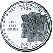 2000 D New Hampshire State Quarter Choice Uncirculated