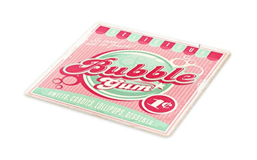Lunarable 1950s Cutting Board, Bubble Gum Tasty Candy