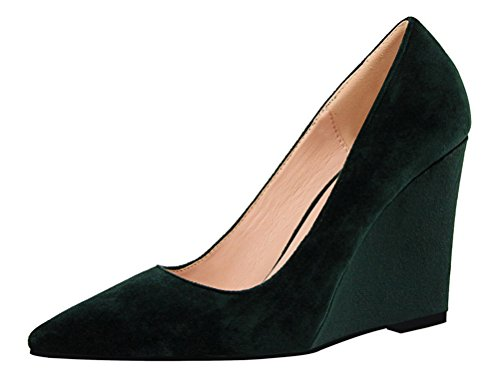 tmates-womens-fashion-casual-suede-pointed-toe-low-cut-slip-ons-wedge-heel-pumps-shoes-55-bmusgreen