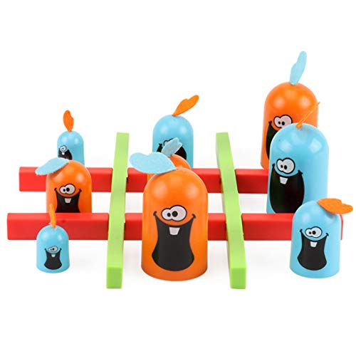 JPJ(TM)1Pcs Kids Creative Skill Building Educational Toy Indoor Gobblet Gobblers Board Game Toy for Kids -