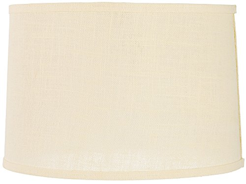 Shade Brentwood Collection - Cream Burlap Drum Lamp Shade 15x16x11 (Spider)