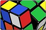 time machine rubik - Shower Curtain pillow Doormats Magic Cube,Rubik's Cube,Cube Puzzle Machine Clean Top Fabric & Non-Slip Rubber Backing Durable Indoor/Outdoor Door Mats