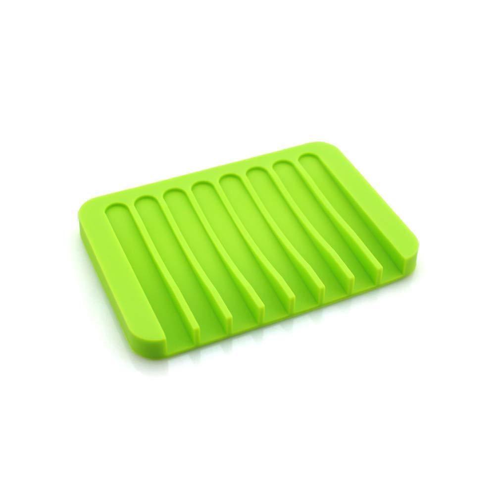 per Bagno e Cucina Silicone Portasapone in Silicone Ecologico 11.5 * 8 * 1cm Blue Riutilizzabile Blackr
