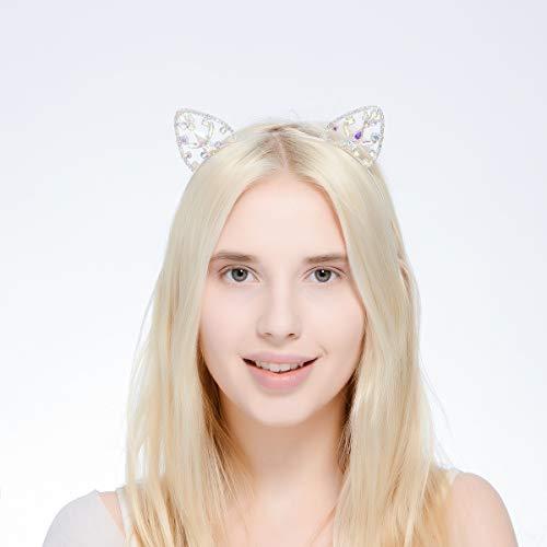 Buy cat ear headband metal