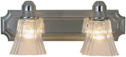 Monument 617094 Decorative Vanity Fixture, Brushed Nickel Finish, 18-Inch