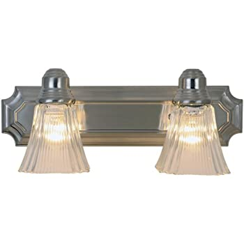 Monument 617094 Decorative Vanity Fixture, Brushed Nickel