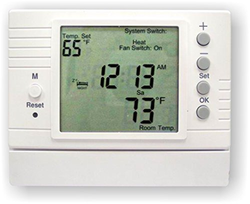 Azel D-502F: PROGRAMMABLE DIGITAL THERMOSTAT FOR HYDRONIC RADIANT FLOOR HEATING (Hydronic Thermostat)