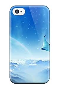 Iphone 4/4s Case Cover - Slim Fit Tpu Protector Shock Absorbent Case (a Dreamy World)