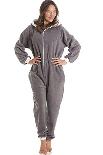 Gris Capucha Una Pijama Pieza De Supersuave Con Yw4YxZC1q