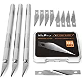 Nicpro 123 PCS Precision Cutter Hobby Knife...