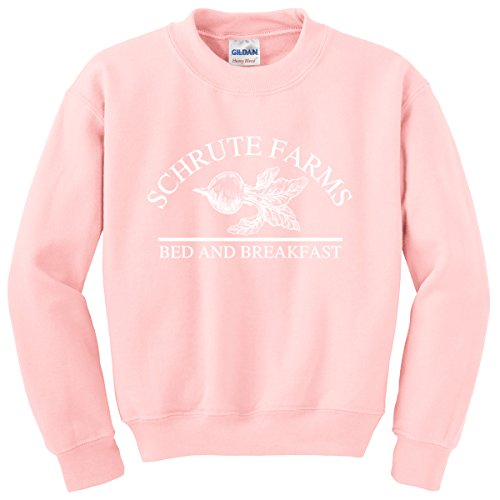 Nuff Said Schrute Farms Beets Bed and Breakfast Sweatshirt Sweater Pullover - Unisex (4XL, Light Pink) by Nuff Said