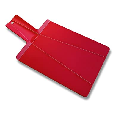 Joseph Joseph Chop 2 Pot Cutting Board, Red