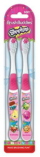 Brush Buddies 2 Piece Shopkins Toothbrush (2 Packs=
