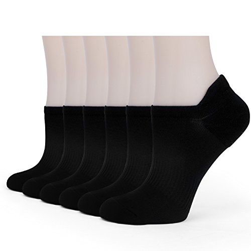 Women's Athletic Cushion Low Cut Socks Performance No Show Running Sock (6 Pairs)