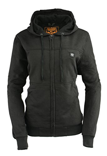Milwaukee Leather Women's Zipper Front Heated Hoodie (Black, M)