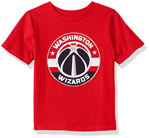 NBA by Outerstuff NBA Kids & Youth Boys Washington Wizards Primary Logo Short Sleeve Basic Tee, Red, Youth Large(14-16)