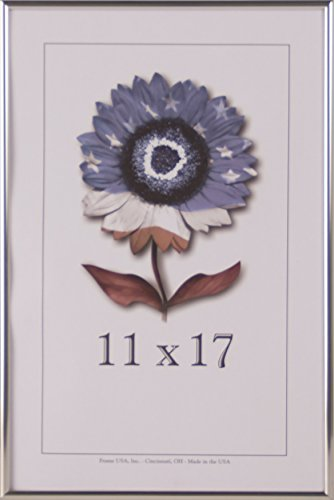 Shiny Silver Frame (11x17 Shiny Silver Metal Picture frame)