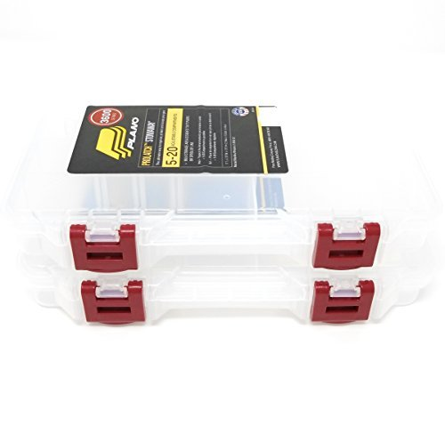 Stowaway Tackle Or Craft Organizer in a 2-Pack Storage Box with Dividers by Plano Molding by Plano Molding