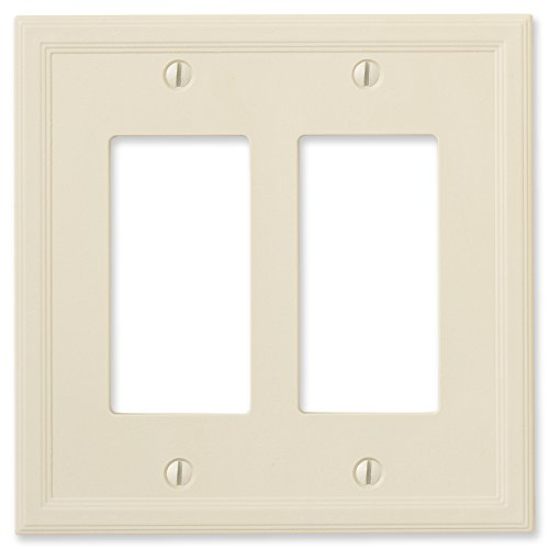 Questech Ivory Insulated Wall Plate/Switch Plate/Outlet Cover (Double Decorator)