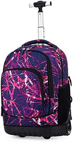 Schulter-Spielraum-Rucksack Middle School Student Drag Pole Schoolbag Boy 18 Zoll Mädchen Reisetasche (Color : Color-B, Size : 31 * 21 * 46CM)