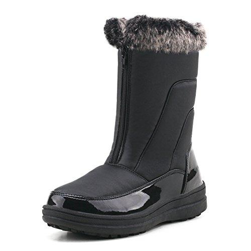 Fourrées H7628 Doublure Bottes Boots Après Ski Shenji Chauds Hiver Noir Femme qBznOxnUwE