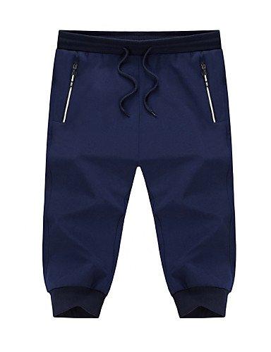 Men Pants Herren Freizeit Klassisch Beiläufig sportlich Einfach Tiefe Hüfthöhe Micro-elastisch Jogginghose Kurze Hosen Schlank Haremshosen Hose
