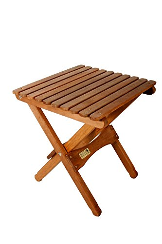BYER OF MAINE Pangean Folding Table, Hardwood Keruing Wood, Hand-Dipped Oil Finish, Easy to Fold and Carry, Perfect for Camping and Tailgating, Matches All Furniture in The Pangean Line Small