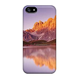 Rugged Skin Cases Covers For Iphone 5/5s- Eco-friendly Packaging(house Near The Lake)