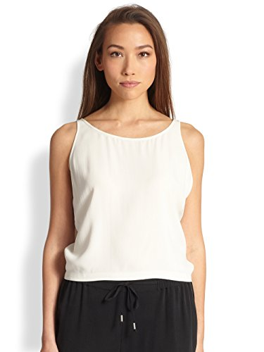 Eileen Fisher Women's Silk Scoop-Neck Short Tank (X-Small, Bone) by Eileen Fisher