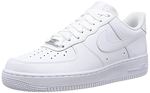 Nike Mens Air Force 1 Low 07 Basketball Shoes White/White 315122-111 Size (Nike Lifestyle Scarpe)