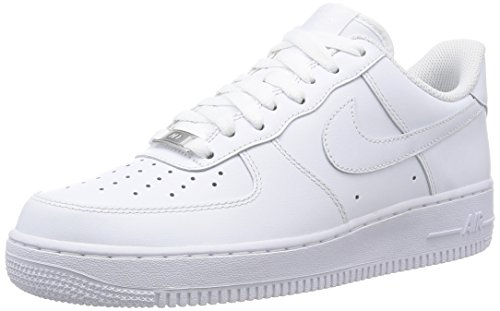 Nike Mens Air Force 1 Low 07 Basketball Shoes White/White 315122-111 Size 8