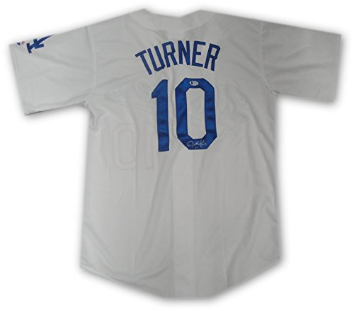 Justin Turner Hand Signed Autograph Los Angeles Dodgers Jersey White - Company Los Running Angeles