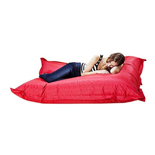 Lanhui_Giant Beanbag Cushion Pillow Indoor Outdoor bed Relax Gaming Gamer Bean Bag (Red) (Giant Outdoor Bean Bags)